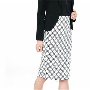 Triple Windowpane Pencil Skirt!